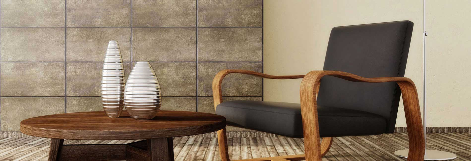 Beautifully Designed Interior with Ceramic Wall and Floor Tiles